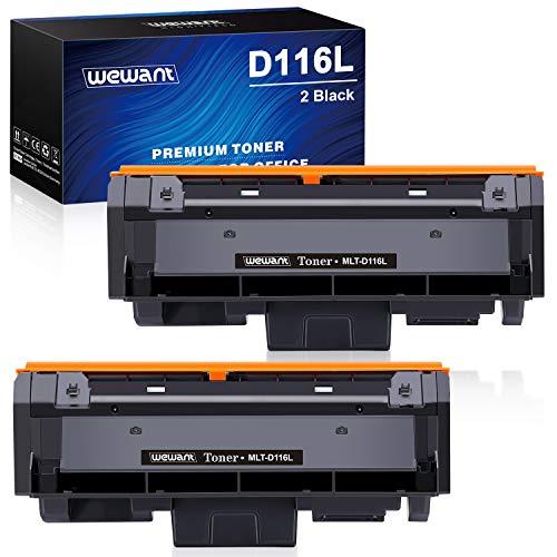 Wewant Toner D116L Cartucce Toner Compatibile Samsung MLT-D116L D116S per Samsung Xpress SL M2825 M2825ND M2825DW M2835DW M2675 M2625 M2626 M2676 M2826 M2826ND M2875 M2876 M2885, Confezione da 2 Nero