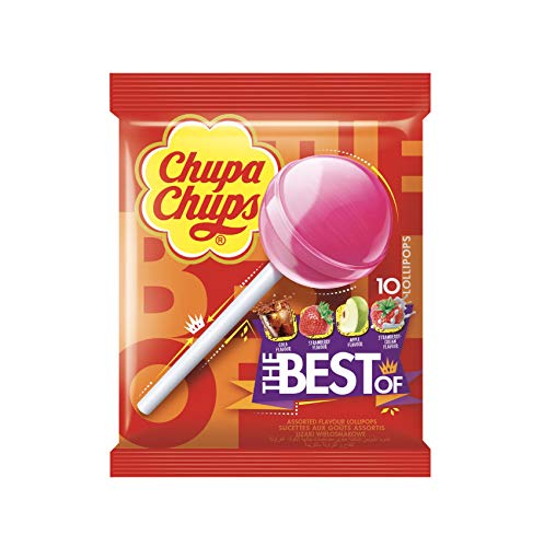 Chupa Chups The Best Of Lollipops 10 Assorted Flavours, 120 g