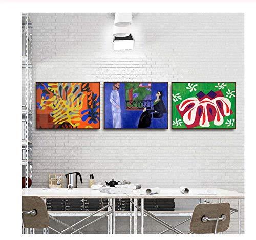 Zhaoyangeng Home Decoration Art Muurfoto's voor Woonkamer Poster Print Canvas Schilderijen Tafelkleed - 50X70Cmx3 Geen Ingelijste