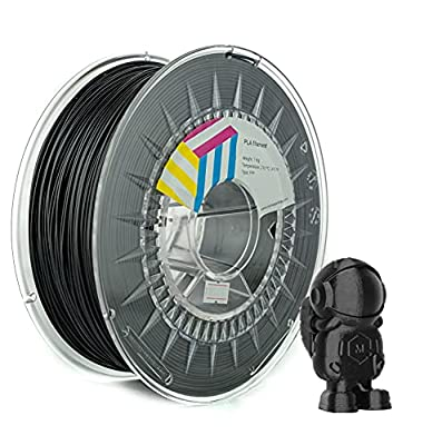 Eolas Prints   PLA Filament 1.75   3D Printer   Made in Europe   Food Safe and Toy Making   1,75 mm   1 kg   Black