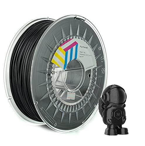 Eolas Prints | Filamento PLA 1.75 | Stampante 3D | Made in Europa | Adatto per l'uso con alimenti e creare giocattoli | 1,75 mm | 1 kg | Nero