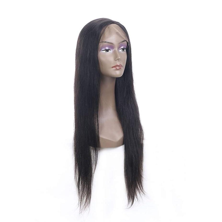 女性レースフロント人毛ウィッグで摘み取られた赤ちゃんの髪150%密度バージンブラジルストレート人間の髪の毛グルーレスかつら