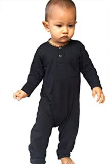 Hey Hendrix Apparel 竹制婴儿连身衣(黑色)Organically Grown Bamboo 出品
