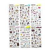CAOLATOR PVC Tagebuch Sticker Fotoalbum Sticker Notizbuch Sticker DIY Deko Aufkleber Für Aufkleber Sticker für Kinder Mädchen - japanischer Stil
