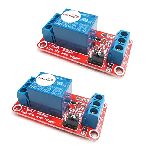 HiLetgo 3pcs 5V 2 Channel Relay Module Relay Expansion Board With Optocoupler Low Level Trigger Shield for Arduino UNO RaspberryPi 8051 AVR ARM MSP430 and DIY