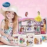 BLOUR 6 unids/Set Disney niños Personalidad Impermeable Tatuaje Pegatina Dibujos Animados Frozen Elsa Princesa Sofia Pegatina Belleza Juguetes niña Regalo