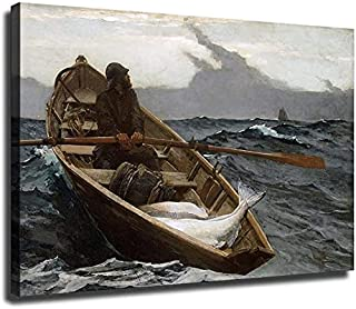 Beautiful Rever Italy Boat Man Row Print Home Decor Wall Art choose your size