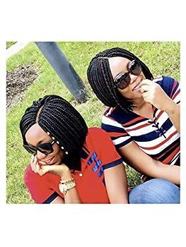 Braided wig/ Box braids/short wig/ bob wig Color 1.10inches long.