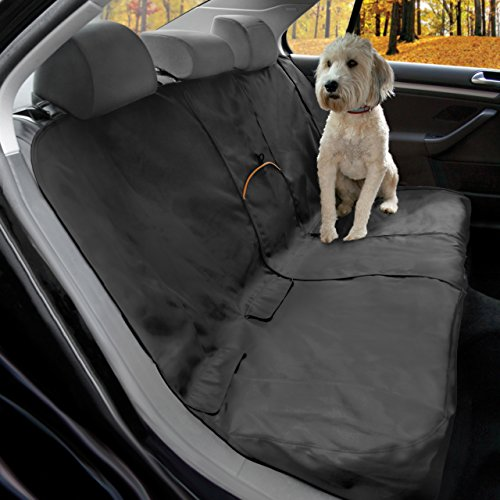 Kurgo Dog Seat Cover, Car Bench Seat Covers for Pets, Dog Backseat Cover Protector, Water Resistant for Dogs, Contains Seat Anchors