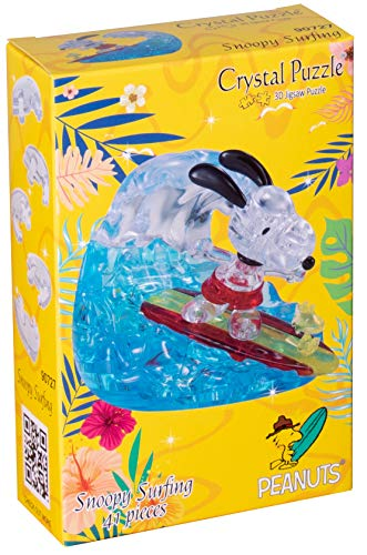 HCM Kinzel 59188 3D Crystal Puzzle Snoopy Surfing, Multicolor