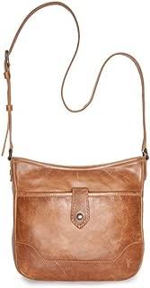 Women's Melissa Button Crossbody Bag Beige/Khaki One Size