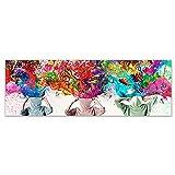 ZHJJD Dormitorio cabecero Decoracion de la Pared Poster Multicolor Lienzo Horizontal Pintura artística Cuadros Abstractos Coloridos para la Decoracion de la Salon de Estar 40x120cm sin Marco