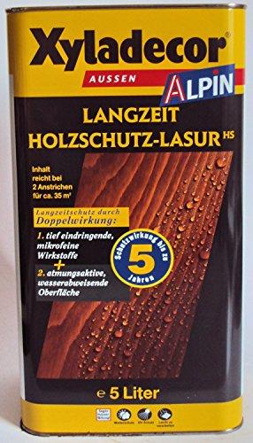 Xyladecor Alpin Langzeit Holzschutzlasur, Mittelschichtlasur, Farbton Zeder / 1 Liter
