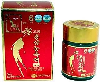 Ginseng Rojo Coreano Puro Extracto Blando, frasco de 50g