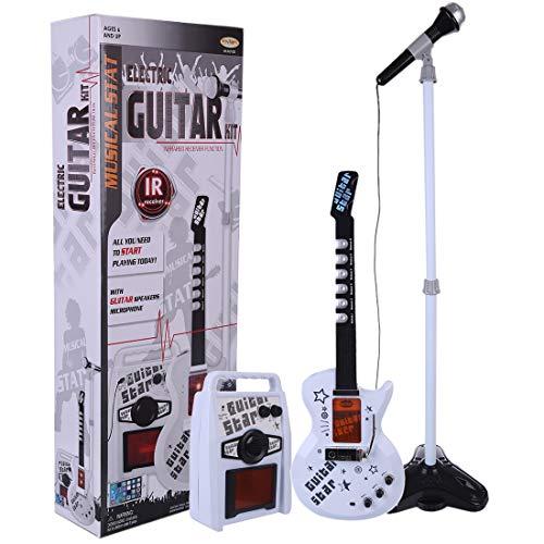 Tosbess - Juego de guitarra eléctrica con micrófono ajustable y amplificador para...