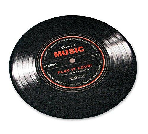 Close Up Record Music tapijt in de vorm van een plaat (67cm) met anti-slip rubberen achterkant