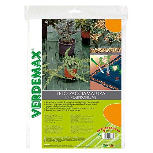 Verdemax offre Serviette paillage Vert en polypropylène 1.65 x 20 mt linéaires