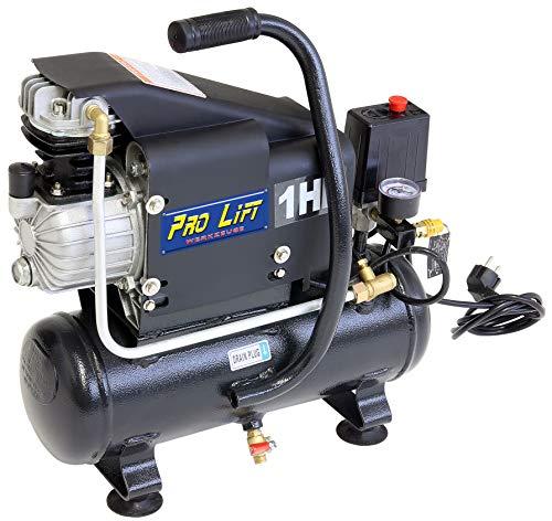 Pro-Lift-Werkzeuge Kompressor 0,75 kW Luftkompressor 8 bar 230 V Abgabemenge 80 l/min Werkstattkompressor Druckluftkessel 6 l 750Watt
