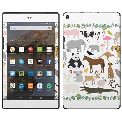 igsticker Kindle Fire HD 8 第8世代 全面スキンシール タブレット tablet シール ステッカー ケース 保護シール 背面 016494 動物 自然