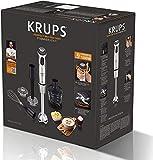 Krups HZ4071 Stabmixer Perfect Mix Pro 9000 inkl. Mixbecher, Mini-Zerkleinerer, Schneebesen, Kartoffelstampfer, 4-Messer, 20 Geschwindigkeitsstufen, Turbostufe, 1000 W, grau / edelstahl gebürstet - 11