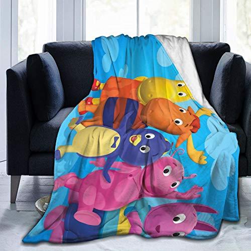 Retoutomec The Backyardigans Bed Blankets Premium Ultra-Soft Micro Fleece Blanket for All Season 50x40 Inch