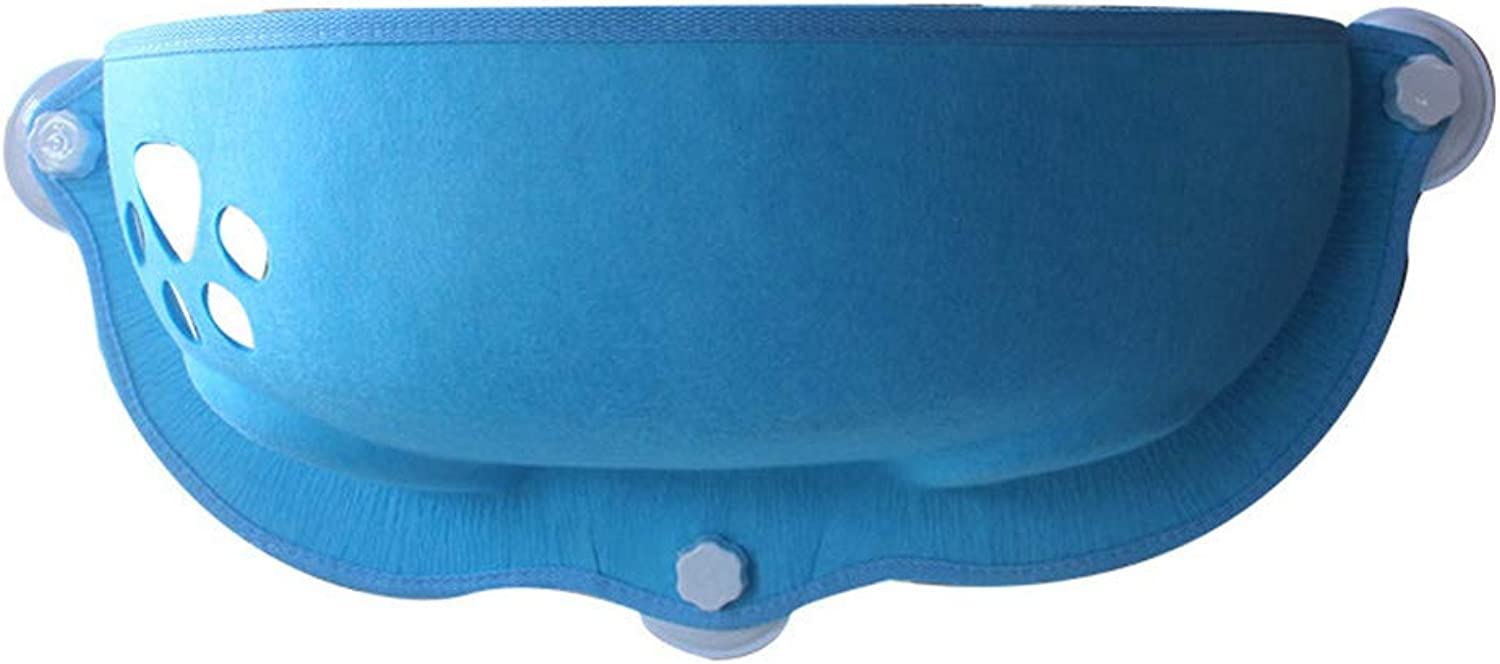 Cat Hammock Removable and Washable Hanging Cup Suction Cup Hammock Window cat Litter,bluee,M