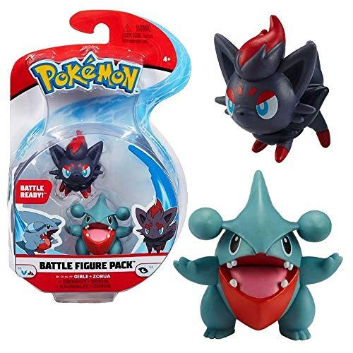 Auswahl Battle Figuren | Pokemon | Action Figur | Spiel-Figur zum Sammeln, Spielfigur:Kaumalat & Zorua