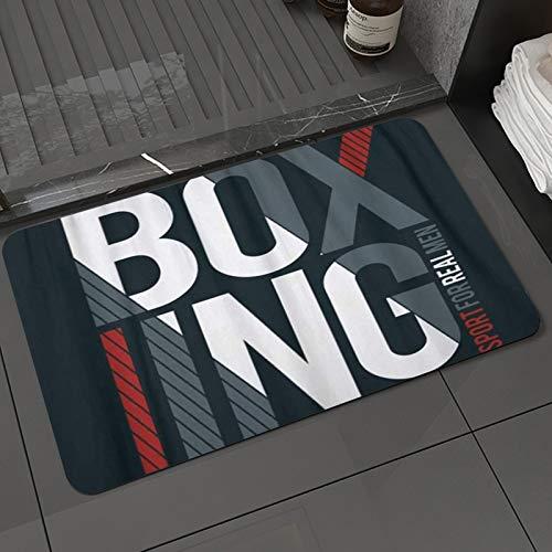 Alfombra de baño y Alfombra antideslizanteMMA de Boxing Sport for Real Men Design para Vintage Fight,Alfombrilla de Ducha de Microfibra (50x80cm)