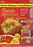 Creates a steam pocket to cook perfect potatoes in the microwave in just 4 minutes Great for all types of potatoes, corn on the cob, day-old bread, tortillas, and more Great for all types of potatoes, corn on the cob, day-old bread, tortillas, and mo...