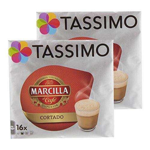 Tassimo Marcilla Cortado, Café, Cápsulas, bohnne Café, Café con Leche, 32T de Discos