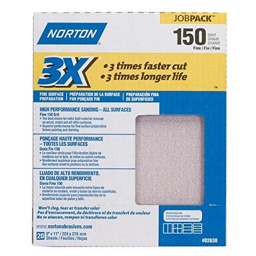 3X Sandsheet 150 Grit Sandpaper 9' X 11'