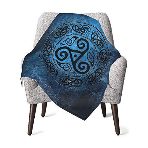 Wxyan Baby Blanket for Boy & Girl Comfortable Throw Double Layer Receiving Blanket Viking Celtic Knot Belief Art Bedding Blanket 30 X 40 Inch