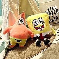 AMOYEE スポンジボブぬいぐるみの創作物のスポンジボブとパトリックぬいぐるみ子供の人形の誕生日プレゼントの場所の装飾のための柔らかい漫画のおもちゃ (Color : SpongeBob About 30cm 35cm)