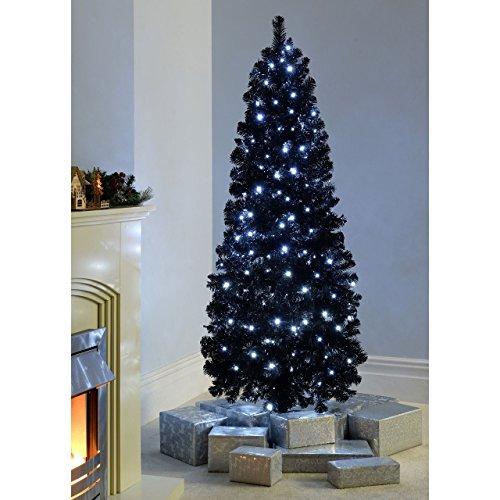FB FunkyBuys® BLACK Fibre Optic SLIM PENCIL Christmas Xmas Tree