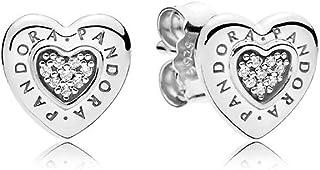 Pendiente de plata en forma de corazón de pandora, 297382CZRA