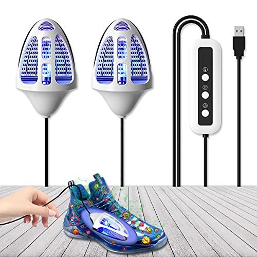 UV Schuhsterilisations,Zeitschaltuhr Ozon sterilisation Deodorant-Trocknung Verhindert Geruch Bakterien beim Trocknen von Schuhen Stiefel Handschuhe Fußentfernung Peeling Juckender Schweißgeruch