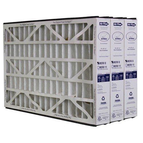Trion Air Bear 255649-101 Pleated Furnace Air Filter 16x25x3 MERV 8 by Trion, 3-Pack