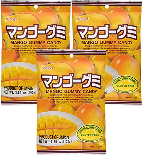 Kasugai Mango Gummy Candy 3.59oz (3 Pack)