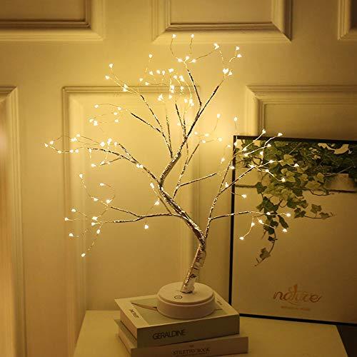 HONPHIER Arbre Lumineux LED Lumière Arbre Décoration de Chambre Utilisation Intérieur Lumières Décoratives pour Fête, Mariage, Noël (Bouleau Lumière darbre)
