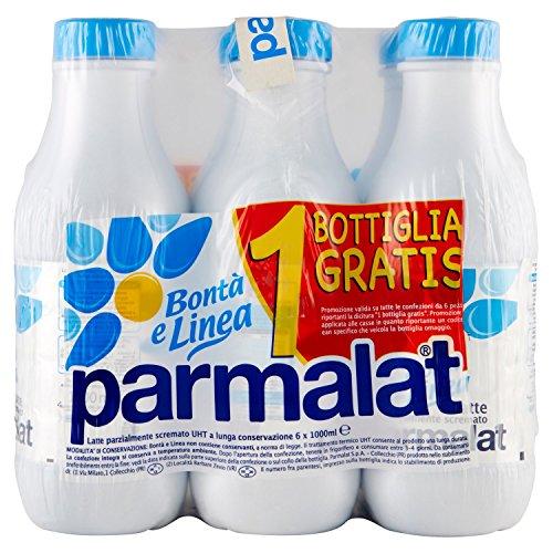Parmalat Bontà e Linea Latte Parzialmente Scremato 1000 ml - Bottiglia (Confezione da 6)