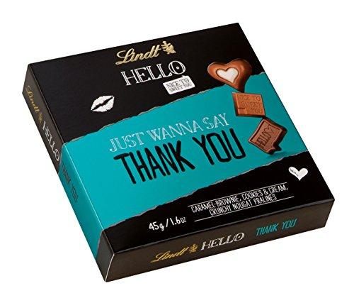 Lindt HELLO Thank You Pralinen, Caramel-Brownie, Cookies & Cream und Crunchy Nougat, 5 x 45 g