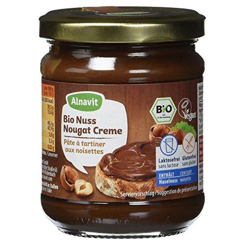 Alnavit Bio Nuss Nougat Creme, glutenfrei, laktosefrei, vegan, 1er Pack (1 x 200 g)