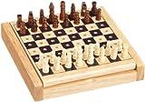 Philos 2707 - Mini-ajedrez (Altura del Rey: 29 mm, Piezas para Encajar)