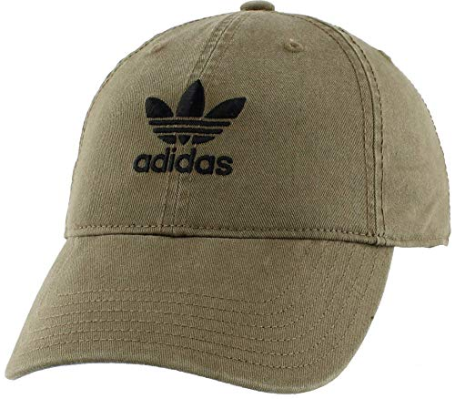 adidas Originals Women's Relaxed Fit Adjustable Strapback Cap, Olive Cargo, One Size