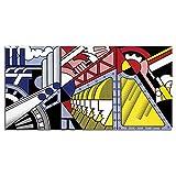 HNZKly Roy Lichtenstein Abstracto Poster Pop Arte Poster Impresiones Lienzo Pinturas Roy Lichtenstein Pared Arte Cuadro Salon Dormitorio Decoracion 30x60cm / Sin Marco-2 Art