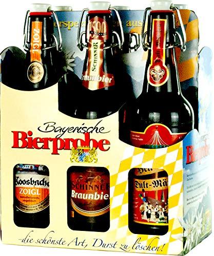 Genussleben Bier Mix 4,6-5,5% vol. 6x 0,5l (Bayrische Bierprobe Bügel 6er), Bierset, Biergeschenk für Männer verschiedene Biersorten
