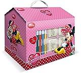 Multiprint Casetta 7 Timbri per Bambini Disney Minnie, 100% Made in Italy, Set Timbrini Bimbi Personalizzati, in Legno e Gomma Naturale, Inchiostro Lavabile Atossico, Idea Regalo, Art.09866