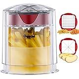 Cortador de patatas, cortador de patatas fritas de corte rápido, cortador de frutas en cuña de fácil limpieza, cortador de manzana para verduras y frutas