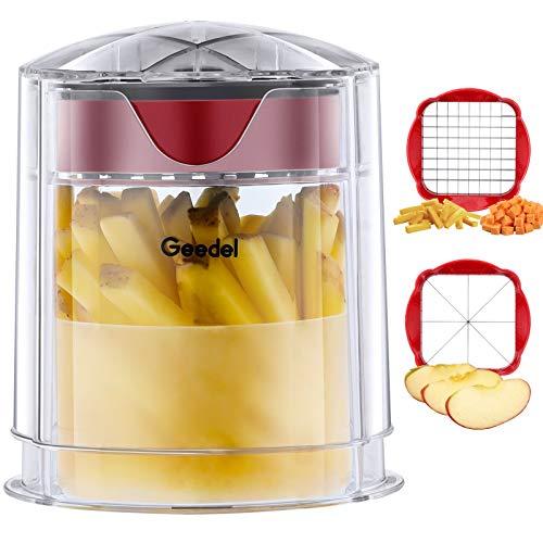 Tagliapatate, Taglia Patate Fritte a Taglio Rapido, Tagliafrutta a Cuneo Facile da Pulire, Taglia Mele per Frutta e Verdura