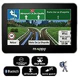 GPS Voiture - GPS Auto - Mappy GPS ULTI S546 (Écran : 5 Pouces - 14 Pays - Mise à Jour Gratuite jusqu'à 4 Fois par an) Noir